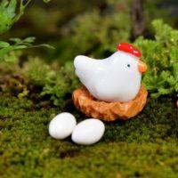 2 quả trứng gà mini PHỤ KIỆN TRANG TRÍ TIỂU CẢNH TERRARIUM