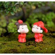 Cô dâu chú rể trung hoa v2 mini phụ kiện trang trí tiểu cảnh terrarium