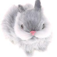 Thỏ nhồi bông lông nhân tạo 9.5 cm đáng yêu trang trí hay làm quà tặng