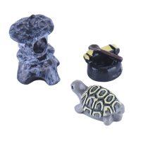 Bộ tượng cụ rùa hồ gương phụ kiện trang trí tiểu cảnh terrarium
