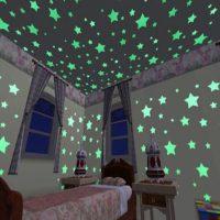100 Ngôi sao dạ quang phát sáng dán tường trần nhà