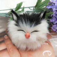 Móc khóa bông xù mèo con đáng yêu lông cực mịn