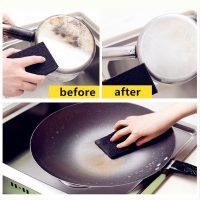 2 Miếng xốp bọt biển than hoạt tính tẩy vết bẩn lau chùi nhà bếp