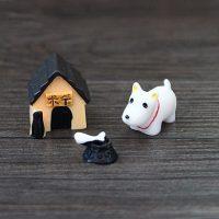 Bộ tượng nhà của cún con mini phụ kiện trang trí tiểu cảnh terrarium