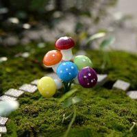 10 cây nấm mini phụ kiện trang trí tiểu cảnh terrarium