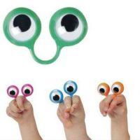 4 Nhẫn đôi mắt rối ngón tay Quack Googly Eye Finger Puppets