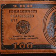 Ví Nam Hình Tiền 100 Đô LA MỸ USD độc đáo Cực Chất DA PU