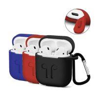 Hộp đựng silicon có móc đeo cho tai nghe không dây Apple AirPods