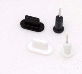 2 nút silicone chống bụi tai nghe và cổng sạc iphone chuẩn lightning