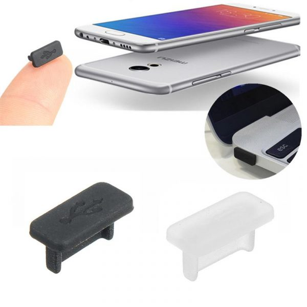 2 nút silicone chống bụi tai nghe và cổng sạc usb 3.1 type c