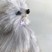 Móc khoá chồn bông xù lông thỏ tự nhiên cực mịn 14cm