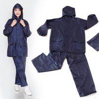 Bộ quần áo mưa vải dù 100% PVC bền và chống thấm nước