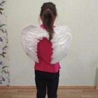 Đôi cánh thiên thần lông vũ tự nhiên hóa trang Halloween
