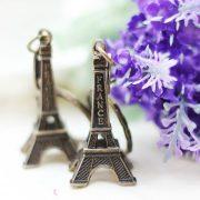 Móc khóa tháp Eiffel epphen màu vàng đồng