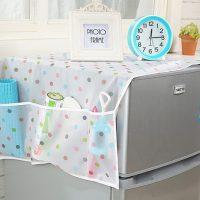 Tấm Khăn phủ tủ lạnh PE hoa văn cao cấp tiện dụng đa năng