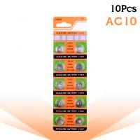 Vỉ 10 Viên Pin Alkaline AG10 LR1130 389 SR1130 SR54 389 189 LR54