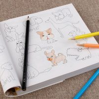 Quyển sách tô màu 5000 HÌNH CHO BÉ tặng kèm 12 bút chì màu