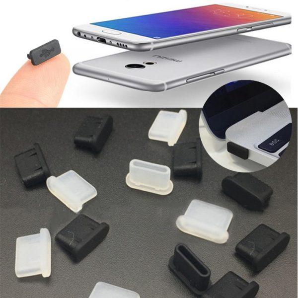 2 nút silicone chống bụi tai nghe và cổng sạc usb type c