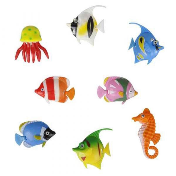 Cá nhựa trang trí hồ cá thêm sinh động chân thực