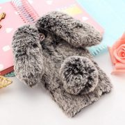 Ốp lưng thỏ bông xù lông nhân tạo nâu cho iphone 7 plus / 7s plus / 8 plus