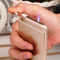 Bật Lửa Iphone 6 thiết kế sang trọng lửa khè chống gió