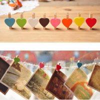 10 Kẹp gỗ trang trí dễ thương treo hình ảnh đồ vật lưu niệm