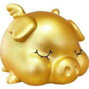 Chú heo vàng bỏ tiền tiết kiệm tiền cực kỳ dễ thương