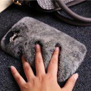 ỐP LƯNG IPHONE LÔNG THỎ BÔNG XÙ sành điệu mềm mịn êm tay