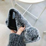 Ốp lưng lông thỏ bông xù cho iphone