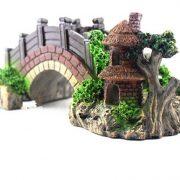tiểu cảnh cây cầu đá phụ kiện trang trí bể cá aquarium