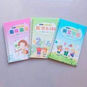 Bộ 3 vở tập tô viết vẽ tự xóa kèm bút cho bé