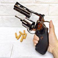 BẬT LỬA HỘP QUẸT GAS LỬA KHÒ SÚNG Revolver trái khế Ổ đạn tay quay