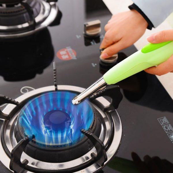 Súng điện đuôi cá mồi lửa bếp gas sử dụng pin tiểu AA