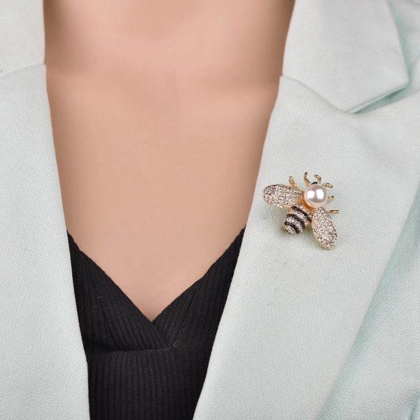 Trâm ghim cài áo con ong cao cấp cho nam nữ công sở
