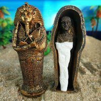 Tượng Xác ướp PHARAOH AI CẬP AQUARIUM TRANG TRÍ BỂ CÁ