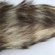 Móc khóa lông đuôi chồn nâu màu sắc tự nhiên