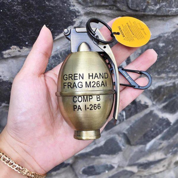 Hộp quẹt gas lửa khò Lựu đạn cà na version 6