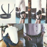 bộ 2 dây đai nịt giữ áo sơ mi dùng được cho cả nam và nữ