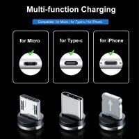 CÁP SẠC TỪ NAM CHÂM 3 IN 1 Lightning Type-C Micro USB