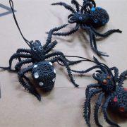 Con nhện silicone giả trang trí tiệc halloween cosplay