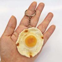 Móc khóa đồ ăn trứng ốp la