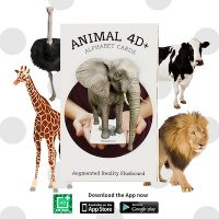 31 Thẻ Animal 4D+ động vật thực tế ảo GIẤY CỨNG PHỦ BÓNG BỀN ĐẸP