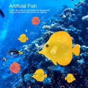 Cá dù Vàng Yellow Tang trang trí bể cá hiệu ứng ánh sáng UV tuyệt đẹp