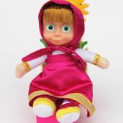 Búp bê Masha nhồi bông váy dài đỏ dễ thương