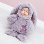 Móc khoá bé thỏ bông lông xù nhân tạo