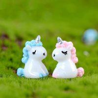 Ngựa một sừng pony tiểu cảnh mini
