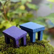 Bộ bàn ghế mini tiểu cảnh trang trí bonsai terrarium