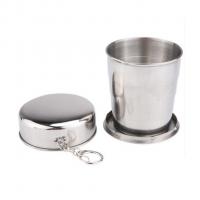Móc khóa cốc uống nước inox xếp gọn tiện dụng