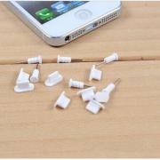 2 nút silicone chống bụi tai nghe và cổng sạc iphone lightning