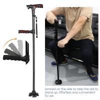 Gậy gấp gọn Trusty Cane chống trượt có đèn pin an toàn cho người cao tuổi